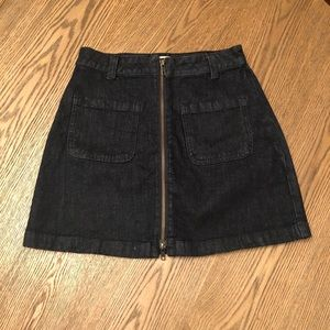 SALE💗Madewell Jean Zippered Mini Skirt